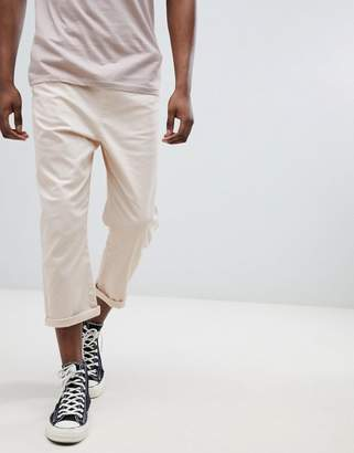 Another Influence Pull On Cropped Drawstring Chinos