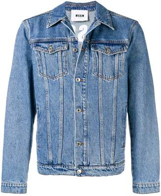 MSGM fitted denim jacket