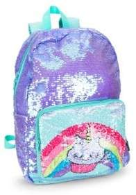 Fashion Angels Girl's Magic Sequin Graphic Backpack