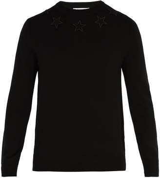 Givenchy Star-appliqué wool sweater