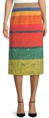 Akris Silk Midi Skirt
