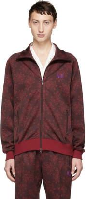 Needles Burgundy Jacquard Flower Track Jacket