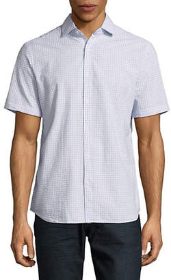 Black Brown 1826 Short Sleeve Check Shirt