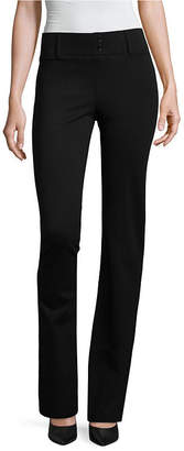 Alyx Womens Mid Rise Bootcut Pull-On Pants