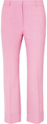 Paul & Joe Cropped Twill Flared Pants - Pink