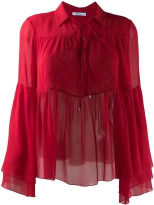 Blumarine ruffle trimmed blouse