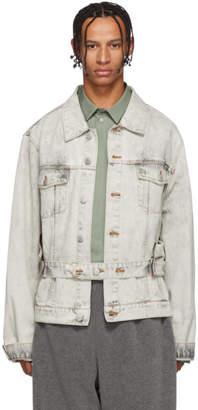 Martine Rose Grey Denim Zip Jacket