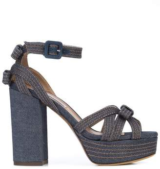 Tabitha Simmons platform bow sandals