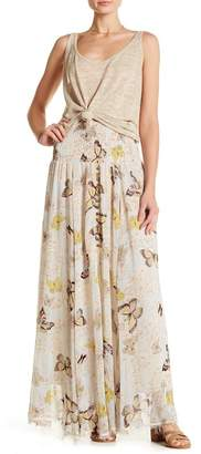 Z&L Europe Butterfly Patterned Maxi Skirt