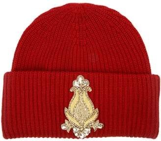Dondup Wool Embroidery Ribbed Hat