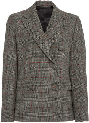 Helmut Lang Prince Of Wales Wool Blazer