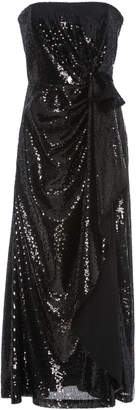 Prabal Gurung Strapless Gathered Sequined-Tulle Dress