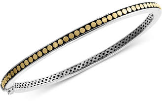 Effy Two-Tone Bangle Bracelet in Sterling Silver & 18k Gold-Plated Sterling Silver