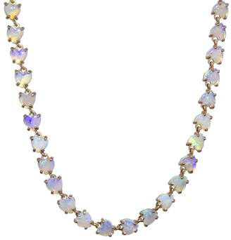 Irene Neuwirth Multi 4mm Opal Heart Necklace - Rose Gold