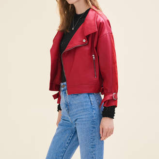 Maje Vintage-style leather jacket