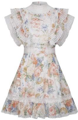 Zimmermann Bowie Frill Mini Dress