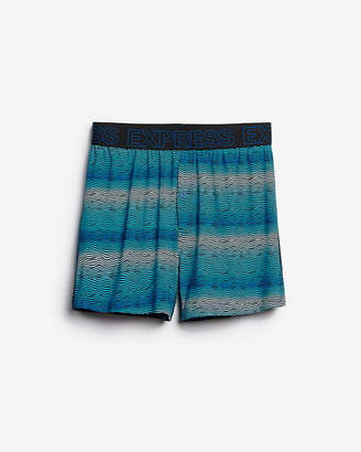 Express Zigzag Moisture-Wicking Performance Boxers