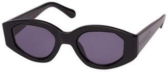 Karen Walker Castaway Oval Plastic & Metal Sunglasses
