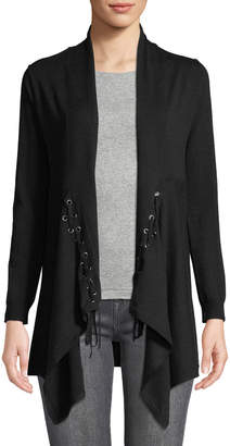Love Scarlett Lace-Up Long-Sleeve Cardigan