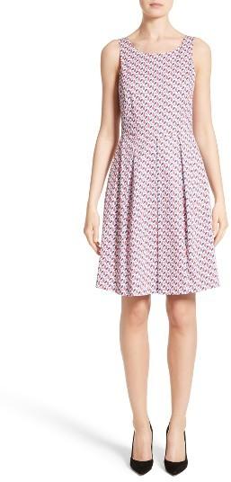 Women's Armani Collezioni Print Cotton Fit & Flair Dress