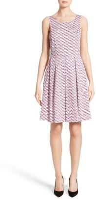 Women's Armani Collezioni Print Cotton Fit & Flair Dress $775 thestylecure.com