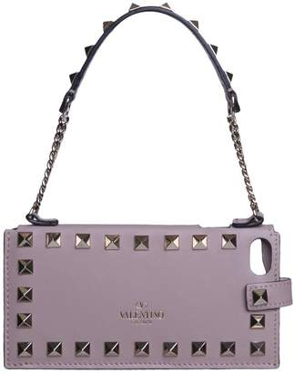 Valentino Rockstud Leather I-phone Case