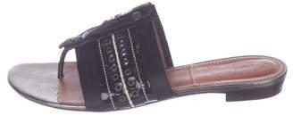 Lanvin Patent Leather Embellished Sandals