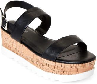 Madden-Girl Black Paris Sweett Platform Sandals