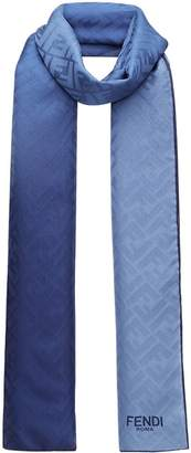 Fendi two-tone embossed logo scarf