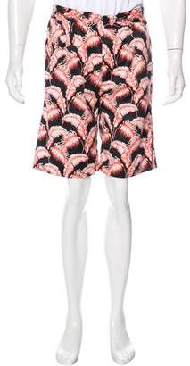 Marc Jacobs Leaf Print Swim Trunks
