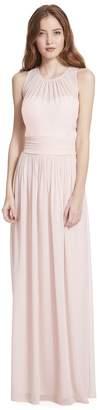Paige Samantha Bateau Neckline Illusion Detail A-Line Chiffon Dress