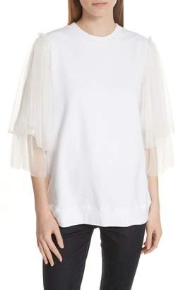 Clu Tulle Sleeve Sweatshirt