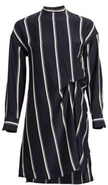 Rag & Bone Jacklin Silk Asymmetric Striped Shift Dress