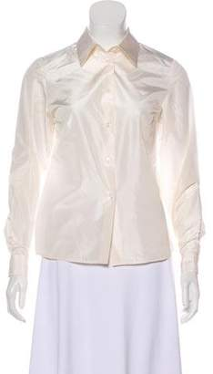 Michael Kors Long Sleeve Button-Up Blouse