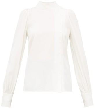 Goat Ilesia Panelled Silk Blouse - Womens - White
