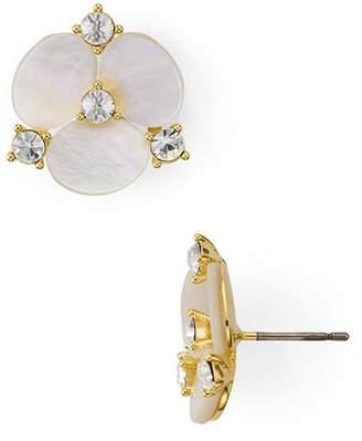 Kate Spade Mother-of-Pearl Floral Stud Earrings