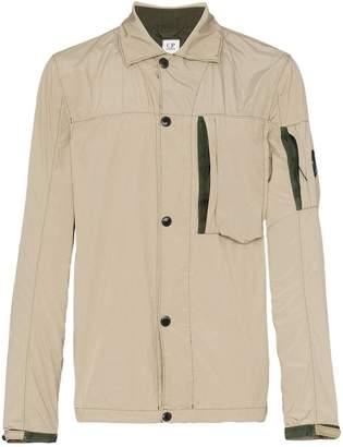 C.P. Company lens sleeve button down shirt jacket