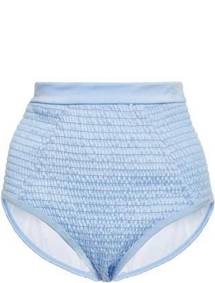 Suboo Shirred High Waist Bikini Bottom