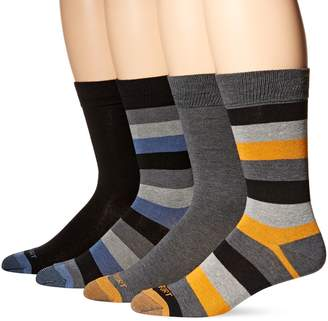 Rockport Men's Solid Striped Crew Sock