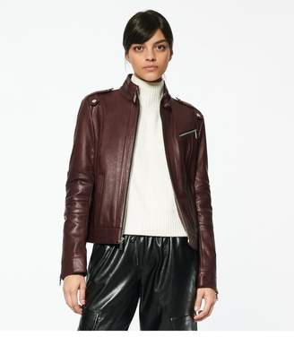 Andrew Marc Rego Classic Leather Racer Jacket