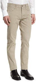 Straight-Fit Solid Wash Stretch Denim Jeans Tan