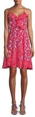 ABS by Allen Schwartz Floral Ruffle A-Line Dress