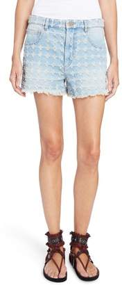 Etoile Isabel Marant Ripped Denim Shorts