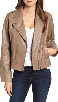Bernardo Double Zip Leather Jacket