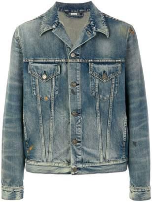 Gucci tiger-embroidered denim jacket