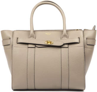 Mulberry Bayswater Solid Grey Leather Tote