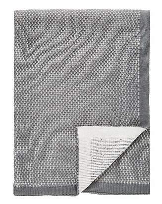 Fashion World Luxury Jacquard Knit Grey Throw