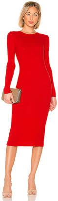 Enza Costa Rib Keyhole Midi Dress