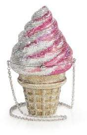 Judith Leiber Couture Swarovski Crystal Ice Cream Cone Clutch