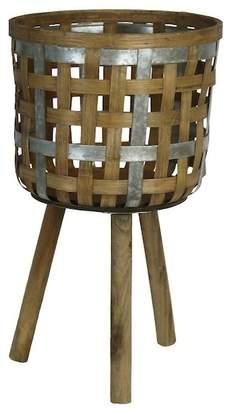 SAGEBROOK HOME Decorative Bamboo Planter Stand - Small